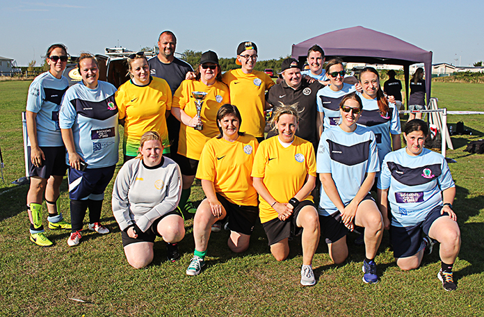 Thanet Ladies Vets with Females Who Football - the finalists in the Ladies' tournament