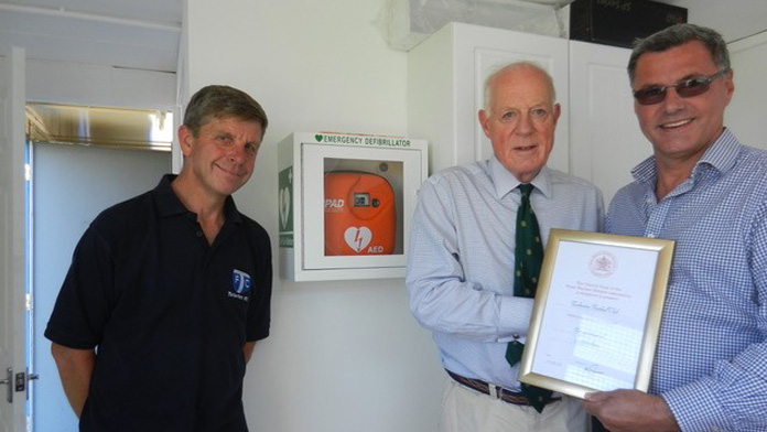 Presentation of Defibrillator by Royal Warrant Holders Association